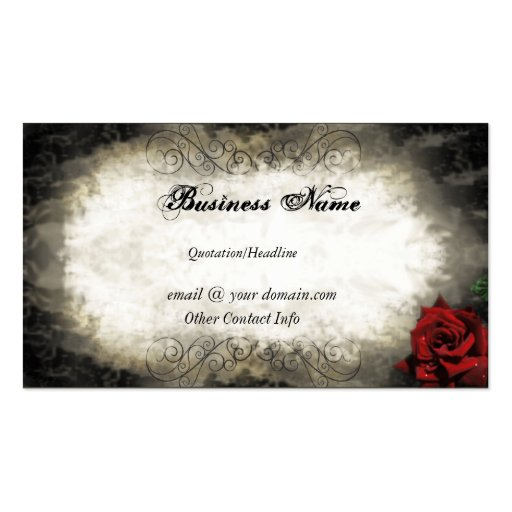 Vintage style rose business card zazzle for Business cards vintage style