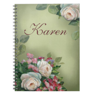 Vintage style Roses Notebook