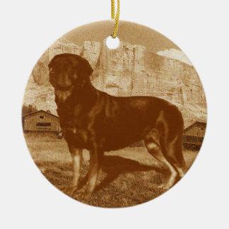 Vintage Style Rottweiler Ornament