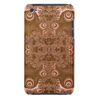 Vintage Style Rusty Brown Metal Fractal Pattern