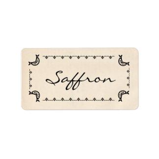 Vintage-Style Saffron Labels