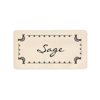 Vintage-Style Sage Labels