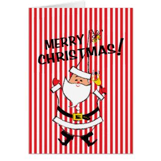 Vintage-Style Santa Claus Christmas Card