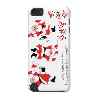 Vintage Style Santa Claus Excited About Christmas iPod Touch (5th Generation) Cases