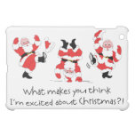Vintage Style Santa Claus Excited About Christmas iPad Mini Covers