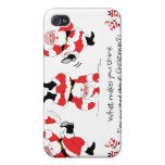 Vintage Style Santa Claus Excited About Christmas iPhone 4 Covers