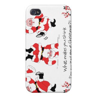 Vintage Style Santa Claus Excited About Christmas iPhone 4/4S Cases