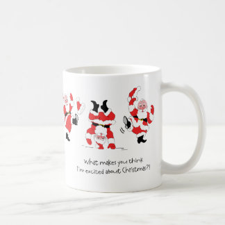 Vintage Style Santa Claus Excited About Christmas Mugs