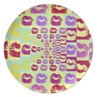 Vintage Style Sassy Lips Dinner Plate