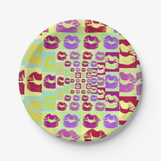 Vintage Style Sassy Lips Paper Plate