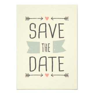 Vintage Style Save the Date Design Custom Announcements