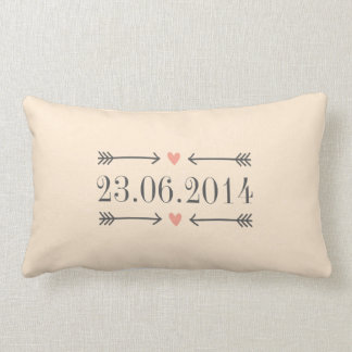 Vintage Style Save the Date Design Lumbar Pillow