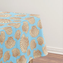 Vintage Style Seashell Pattern Tablecloth