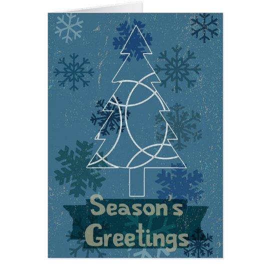 Vintage style Season's Greetings Card