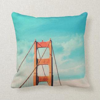 Vintage Style SF Golden Gate Bridge Throw Pillow