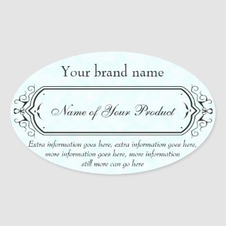 Vintage Style Soap and Cosmetics Label blue oval
