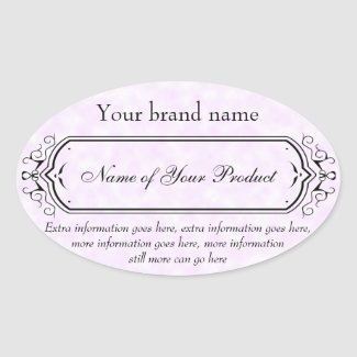 Vintage Style Soap and Cosmetics Label pink oval