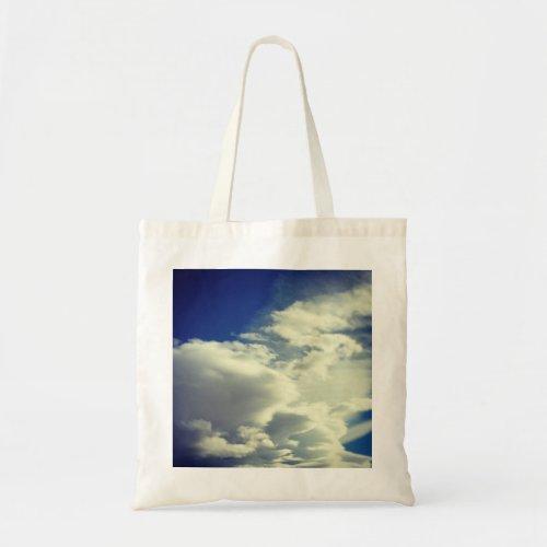 Vintage Style Square Sky Photo Tote Bag
