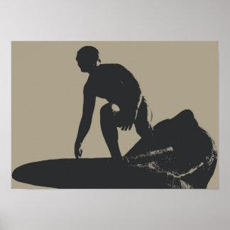 Vintage Style Surfer Poster