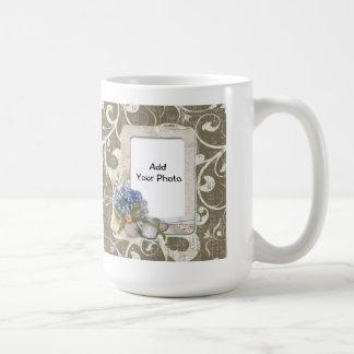 Vintage Style Taupe Swirl Frame Coffee Mug