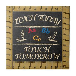 Vintage Style Teach Today Teacher Tile