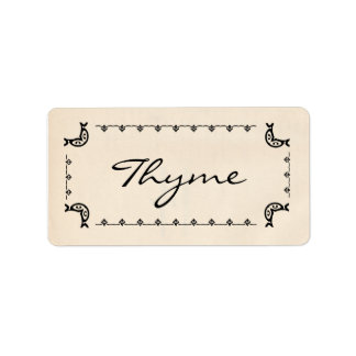 Vintage-Style Thyme Labels