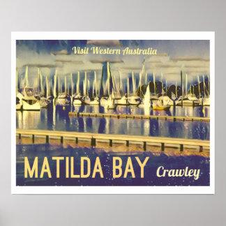 Vintage-style Travel Poster Matilda Bay