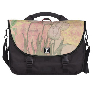 Vintage style tulips and roses commuter bag