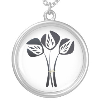 Vintage Style Tulips Jewellery Silver Plated Necklace
