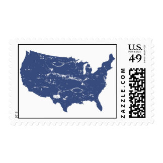 Vintage style USA Postage Stamps