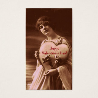 Vintage Style Valentine's Day Business Card