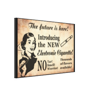 Vintage Style Vaping Poster Canvas Print