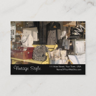 Used clothing business cards templates zazzle vintage style vintage goods custom business cards reheart Images