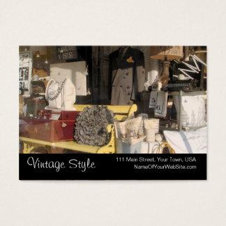 Vintage Style Vintage Goods Custom Business Cards