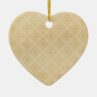 Vintage Style Wallpaper Heart Ceramic Ornament