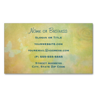 Vintage Style Watercolor background Business Card Magnet