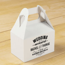 Vintage Style Wedding Survival Kit Favor Box