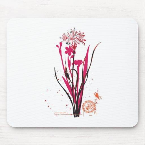 vintage style wild flower design mouse pad