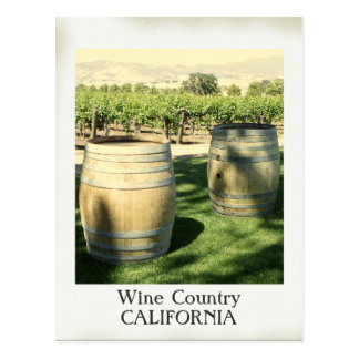 Vintage Style Wine Country Postcard!