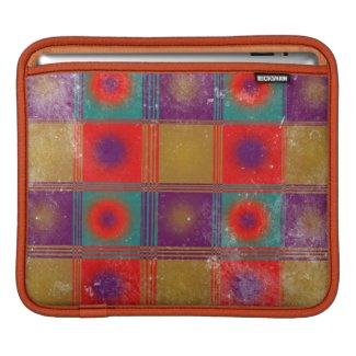 Vintage style worn pattern circles and squares