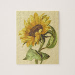 [ Thumbnail: Vintage Style Yellow and Orange Sunflower Puzzle ]