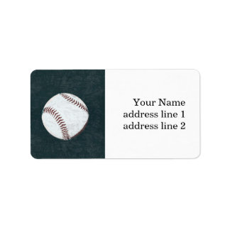 vintage styled baseball address label