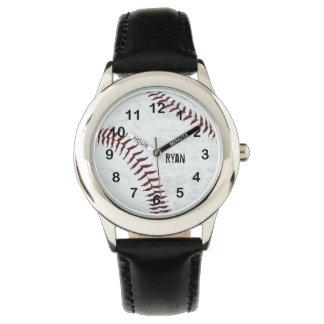 vintage styled baseball ball - red stitching watch