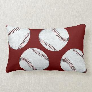 vintage styled baseball balls pillow