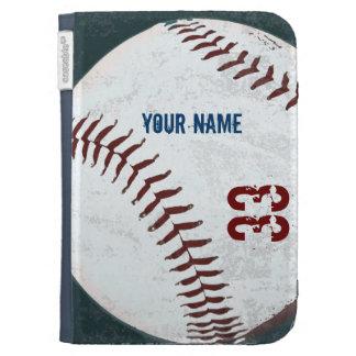 Vintage styled baseball kindle case