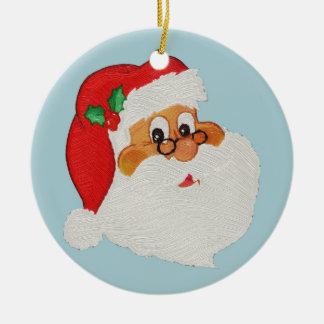 Vintage Styled Black Santa Cartoon Ornament