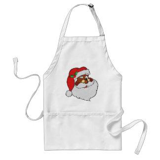 Vintage Styled Black Santa Image Adult Apron