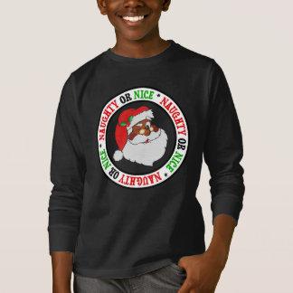 Vintage Styled Black Santa Image T-Shirt