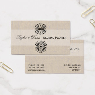 Vintage Stylish Ornately Intricate Event Planning Business Card