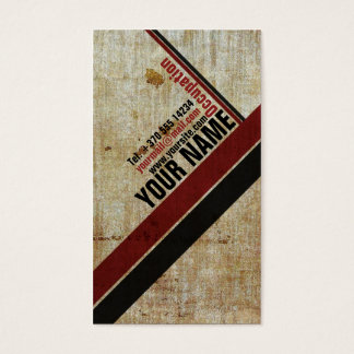 Vintage Stylish Retro Red an Black Business Card